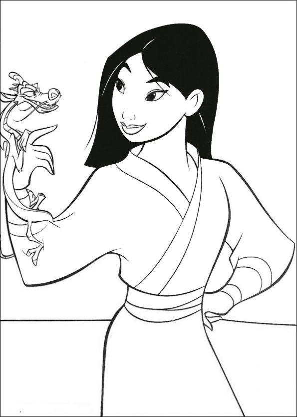 Ausmalbilder Disney Mulan 12 Ausmalbilder Disney Ausmalbilder Disney Malvorlage Prinzessin Disney Farben