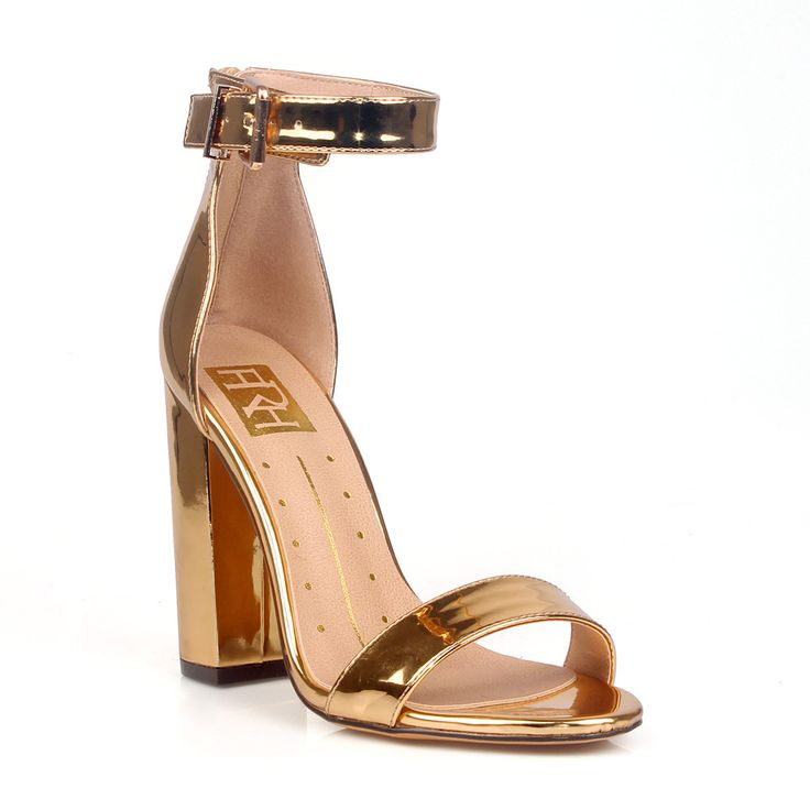 Fahrenheit Constance-01 Chuncky Heel Women's Patent High Heel Sandals