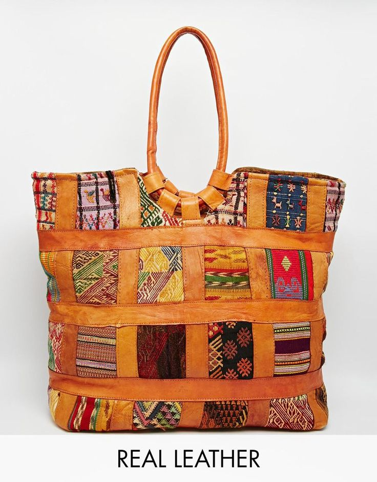 Hiptipico+Patchwork+Leather+Tote+Bag
