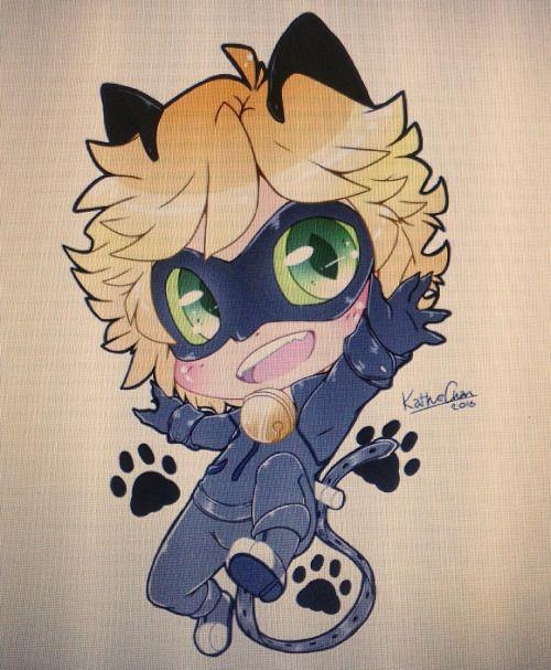 kathechanthecat:  Digital version of the chibi Cat Noir, I did days ago~