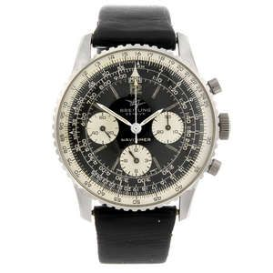 LOT:6 | BREITLING - a gentleman's stainless steel Navitimer 806 chronograph wrist watch.