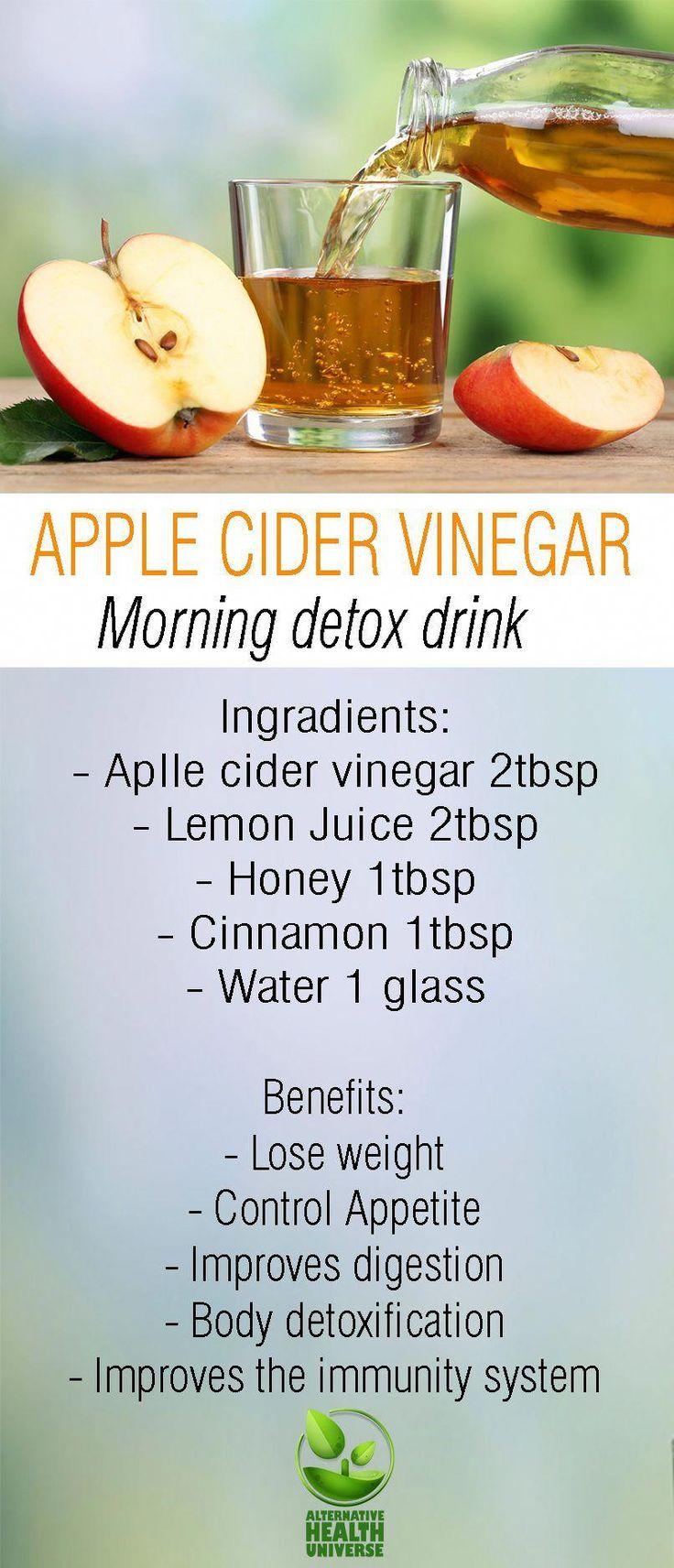 Apple cider vinegar morning detox drink # ...