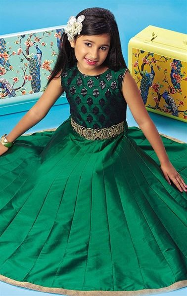 Picture of Charismatic Green Kids Designer Gown
