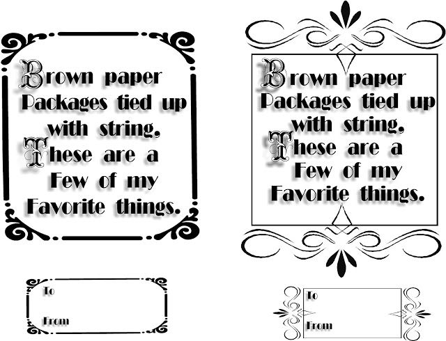 HollysHome Family Life: Brown Paper Packages Tied Up With String Printable