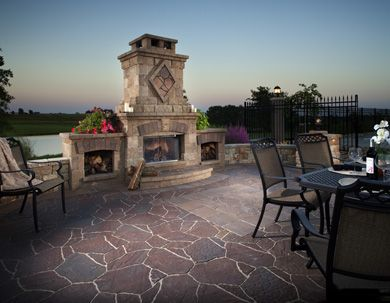 Outdoor Fire places are perfect for entertaining guests during the spring, summer and even early fall months. Let us help you plan your patio and outdoor fire place today. You'll be the envy of all your neighbours. Visit one of our 4 locations today.