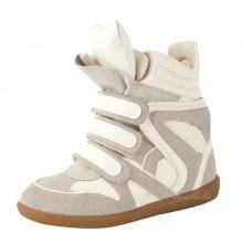 Isabel Marant Bekket High-Top Suede Sneakers Blanc / Gris