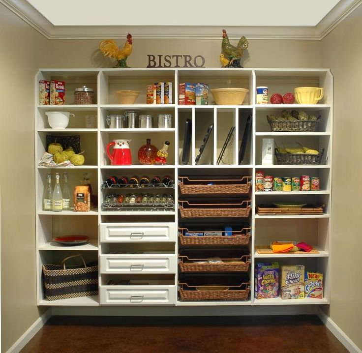 White Shelves With Baskets White Pantry Shelving System