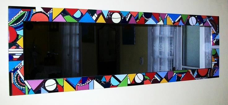 Mosaicos De Espejos. Glass Mosaic Seaside Fish And Seashell Mirror ...