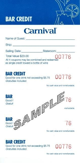 the old Carnival cruise coupons