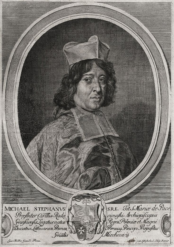 Primate Michał Stefan Radziejowski by Arnold van Westerhout after Giovanni Battista Gaulli, after 1693 (PD-art/old), Biblioteka Narodowa