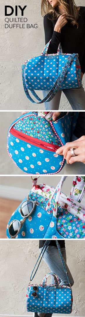 A Quilted DIY duffle, perfect for the gym or travel.