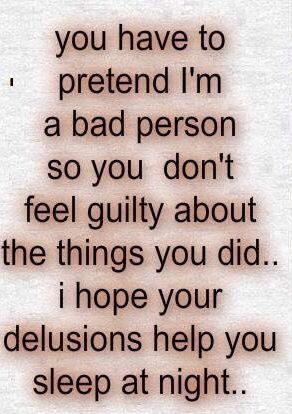 Pinterest : @MazLyons I hope your delusions help you sleep at night.