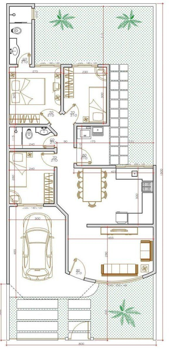 23 best Houses plans images on Pinterest Small houses, Artisan - plan petite maison 70 m2