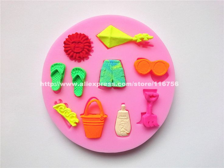 Free shipping shorts flip flops juicy shaped silicone mold