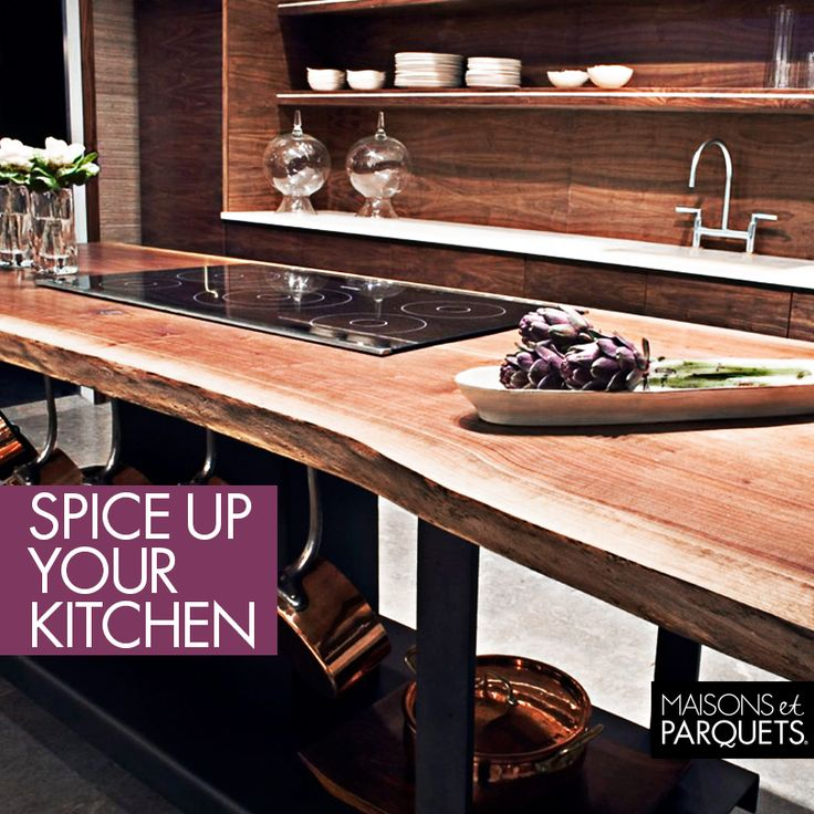 Live-edge tables will add a touch of country charm and a dash of industrial edge to any kitchen.