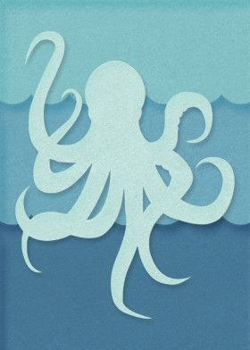 Paper Cut Out Art by Jay Diloy | metal posters – Displate  octopus tattoo design…