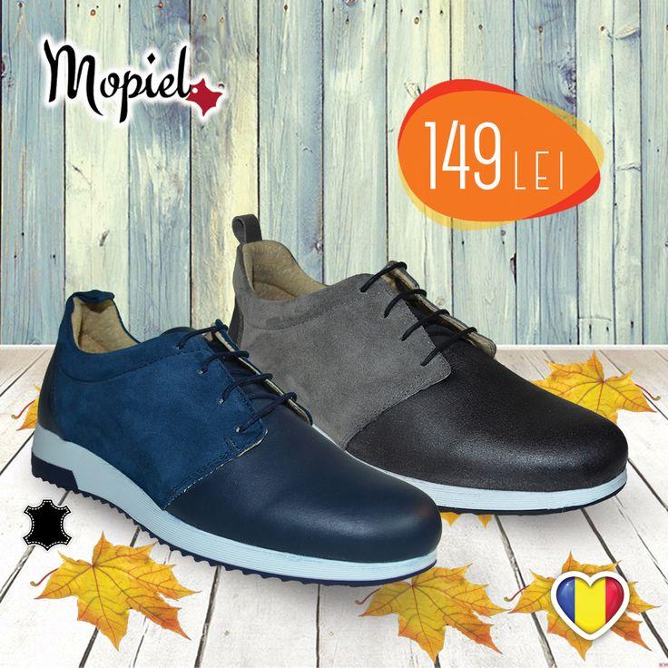Mopiel - Pentru zile însorite de toamnă! Pantofi din piele, căptușiți cu piele.