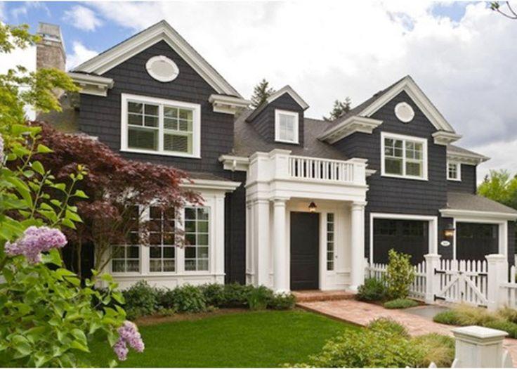 849 best exterior homes images on Pinterest   Black exterior ...