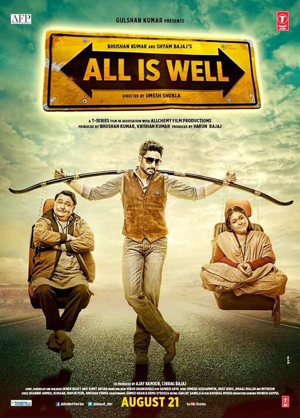 Watch All Is Well Movie official Theatrical Hd Video Official Trailer Abhishek bachchan Rishi Kapoor Asin & Supriya Pathak release date 21st August 2015 posters