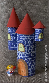 Use toilet paper rolls and oat meal containers to make a Castle.