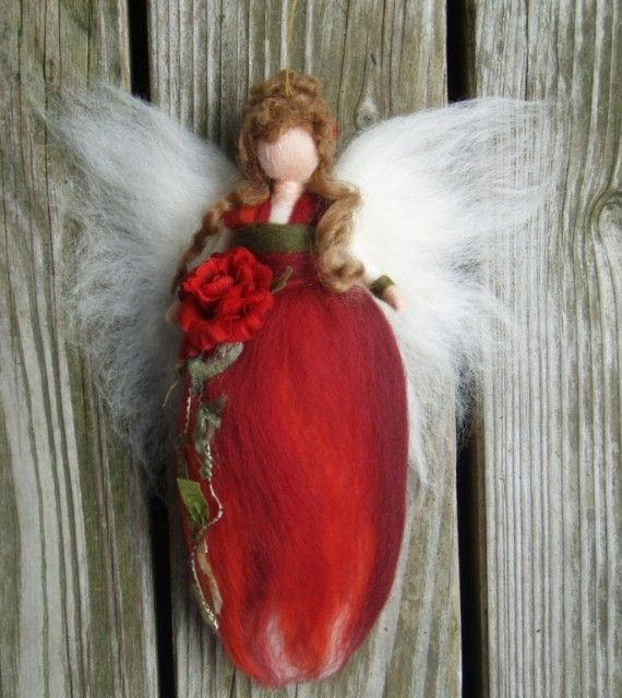 wool waldorf winter fairies | ... FAIRY DOLL FEE ANGEL FAERIES SOFT SCULPTURE…