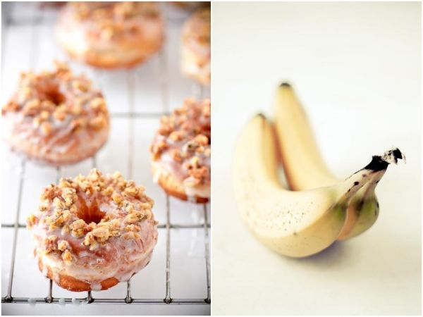 "Tartelette: Banana Doughnuts With Dried Banana ""Streusel"""