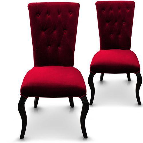 Lot de 2 chaises Beata Rouge - Lot de 2 - Par 2 : en vente sur RueDuCommerce
