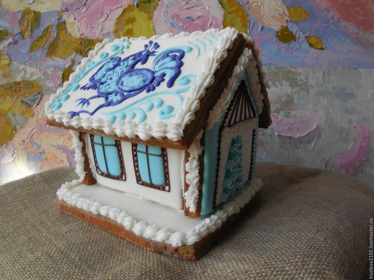 Купить Пряничный домик на Новый год. - белый, пряничный домик, пряничные домики, пряничный сувенир