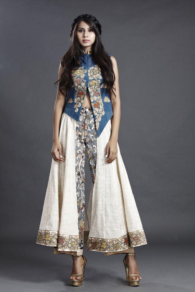 kalamkari dress by sagar tenali.