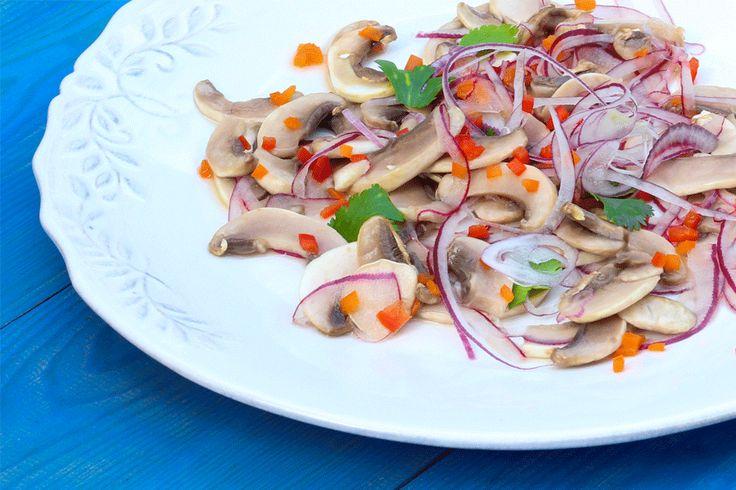 Ceviche de Cogumelos Brancos ♥ GlutenFree com paixão
