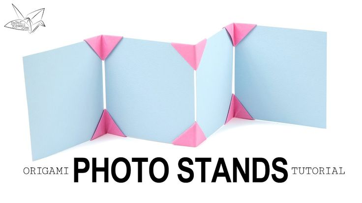 Learn how to make a photo display with little origami corner stands! This is a stylish way to display photos, cards and artwork. Display 2 or more photos. Th...