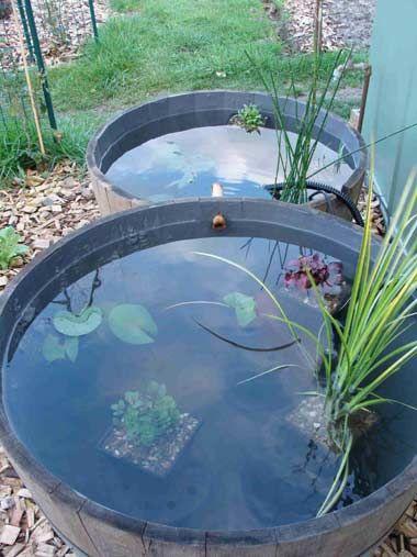 Passion bassin la mise en place de tonneaux pour cr er - Comment creer une fontaine de jardin ...