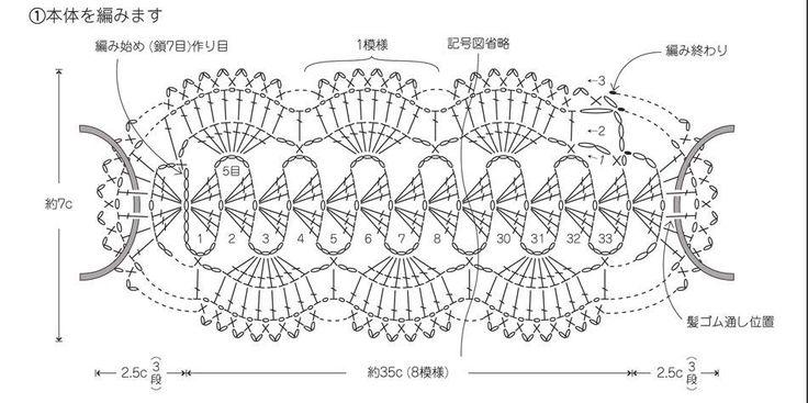 diademas+de+crochet+patron2.jpg (950×474)