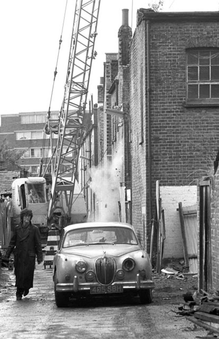 """""""Withnail And I"""" - off set pic of Marwood's Jag."""