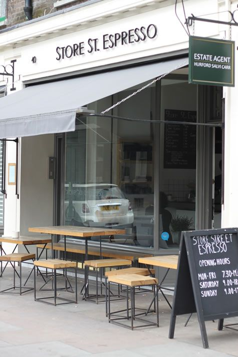 Store St Espresso, Store Street, Fitzrovia, London. Not far from the Buckets and Spades office, as well as the British Museum, this small, narrow coffee shop captures the students from the local universities, as well as a few freelancing media types from Fitzrovia. It's usually nice and quiet, unless during the height of summer, and there's a Byron Burger opposite, should you get really hungry.
