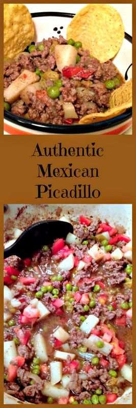 Delicious authentic Mexican picadillo brings to your table the flavors of Mexico. It is a basic recipe that can feed a crowd. Also, the leftovers are great.