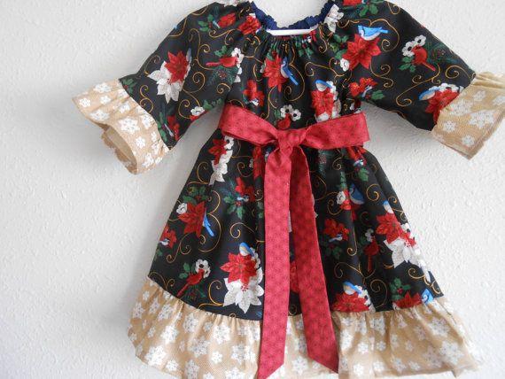 Toddler Girl Christmas Dress, Baby Girl Christmas Dress, Toddler Holiday Dress, Girls Christmas Dress, Girls Christmas Outfit