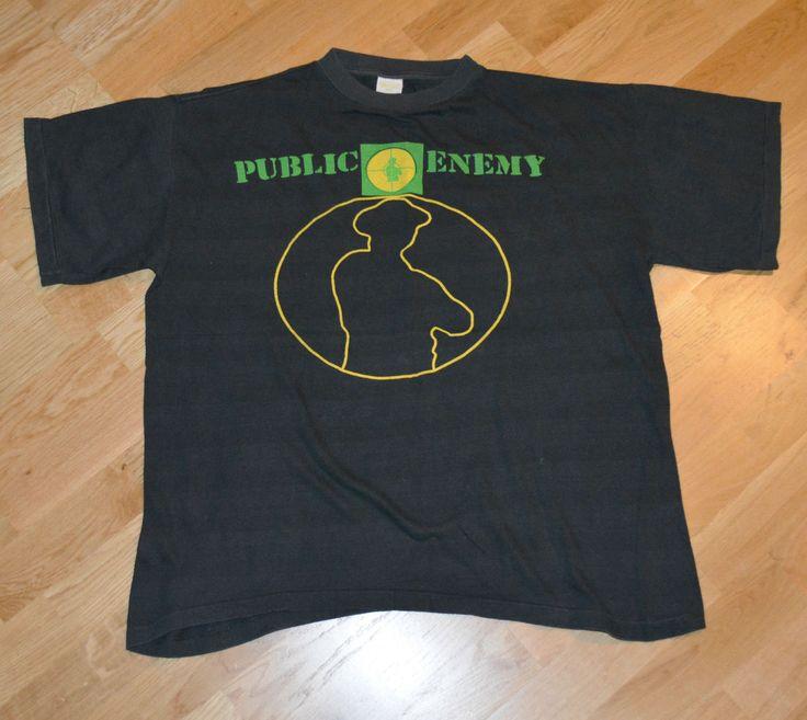 RaRe *1991 PUBLIC ENEMY* vtg rap concert shirt (L/XL) 80's 90's Def Jam Hip-Hop | Clothing, Shoes & Accessories, Vintage, Men's Vintage Clothing | eBay!