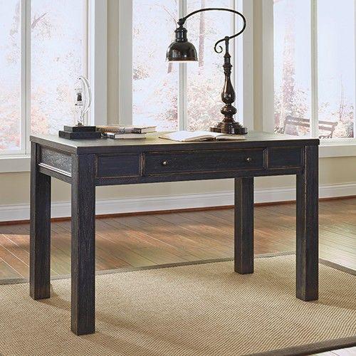 Galveston Large Leg Desk - Black - Ashley Furniture 33% OFF | $309.00 - Milan Direct