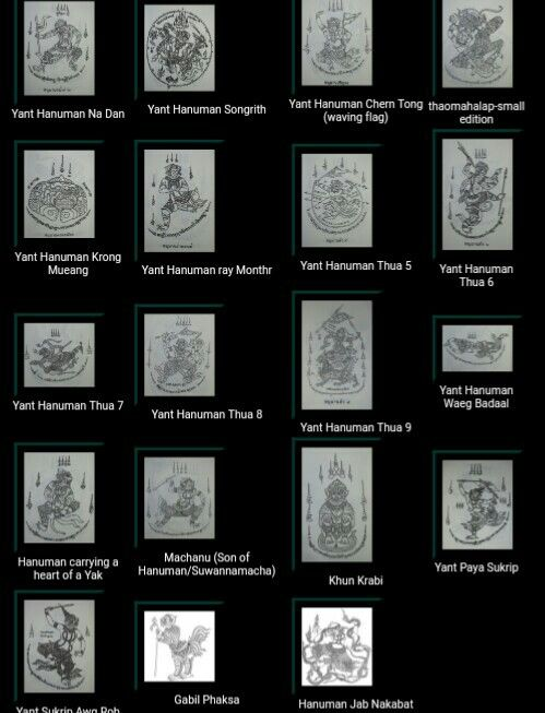 Various himapant Sak yant..