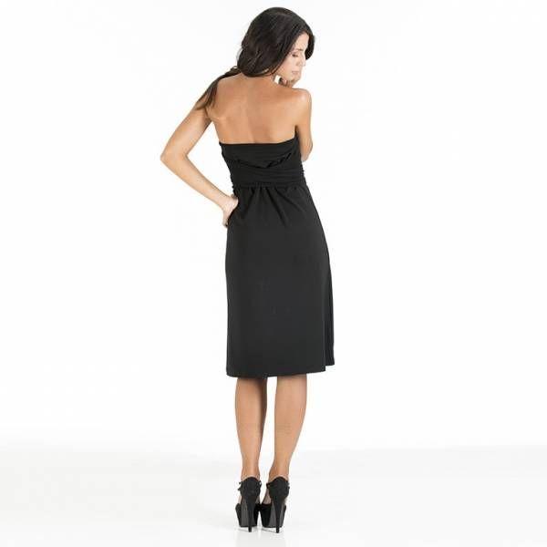Abito multiuso: è l'abito essenziale passe-partout nel guardaroba di ogni donna #essential. Un solo abito, tante proposte di stile tutto made in Italy. L'abito è inserito in un elegante pochette multiuso dello stesso tessuto. Ideale da mettere in valigia per viaggi di lavoro o in vacanza. #WearEssential #7in1 #Moda