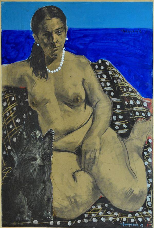 Original painting by Nikos Christoforakis Mixed media Size: 100x70cm