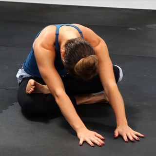 Stretch to Relieve Lower Back Pain and Open Tight Hips- my favorite pre-natal yoga stretch!!!