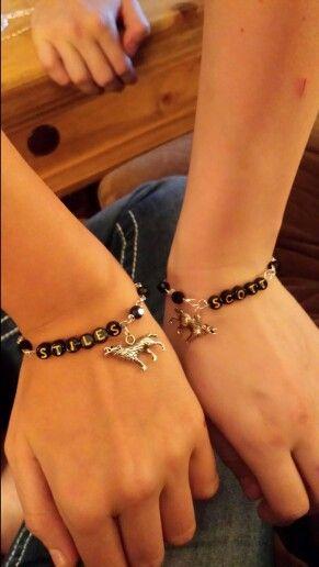 Matching teen wolf friendship bracelets