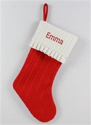 Personalised Christmas Stocking - Cable Knit Christmas Stocking