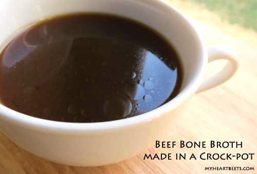 beef bone marrow bones make for a delicious, dark and nutrient-filled broth via My Heart Beets