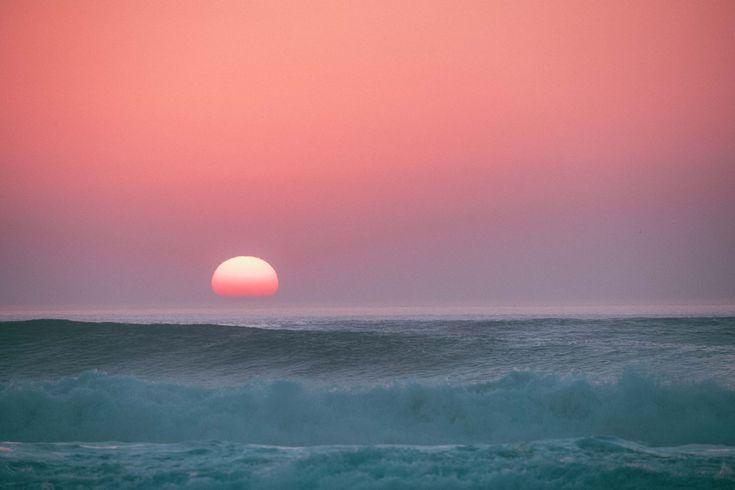 Surf's up until the sun's down on Les Landes coast.