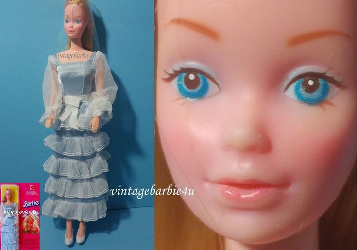 Vintage Canadian / European Steffie Barbie Doll #7382 Lady in Blue Dress HTF  #Mattel #DollswithClothingAccessories