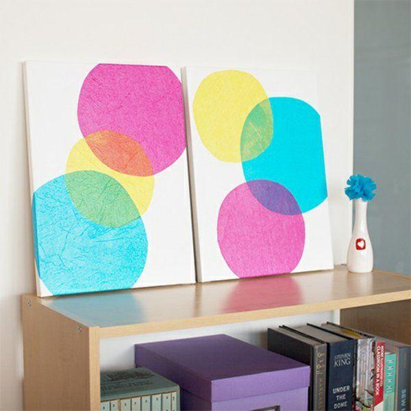 Leinwandbilder Transparent Selber Gestalten Diy Kreise Bunt