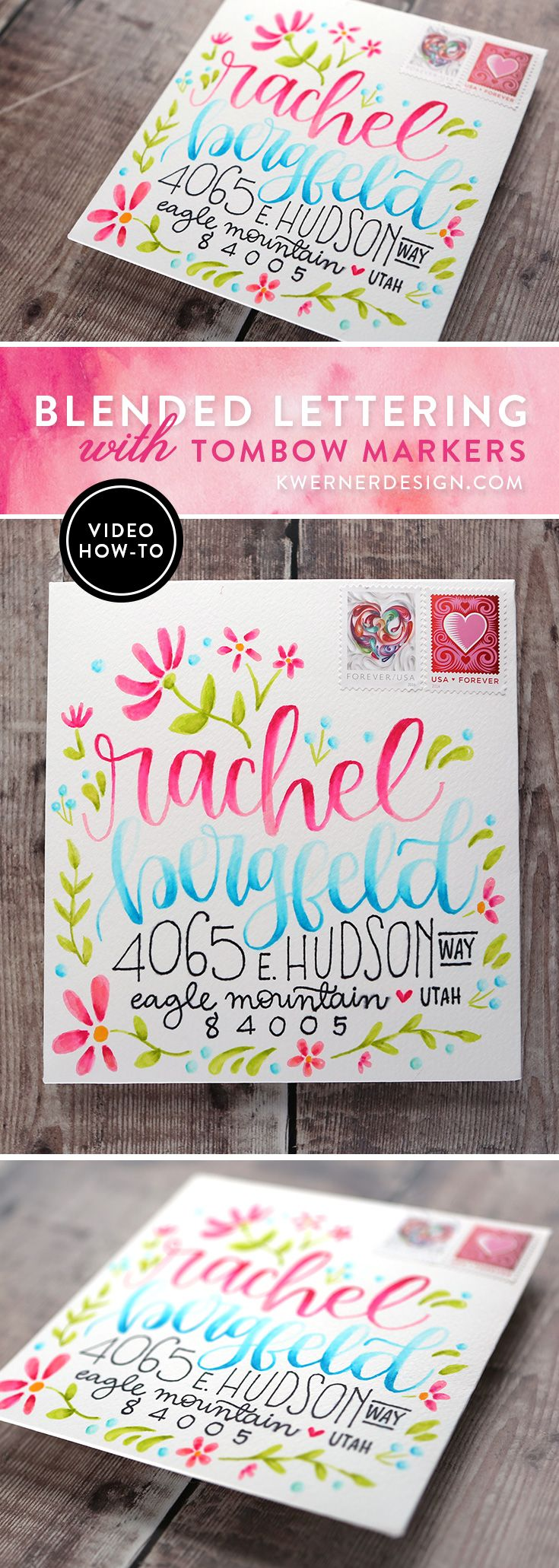 Blended Lettering with Tombow Markers